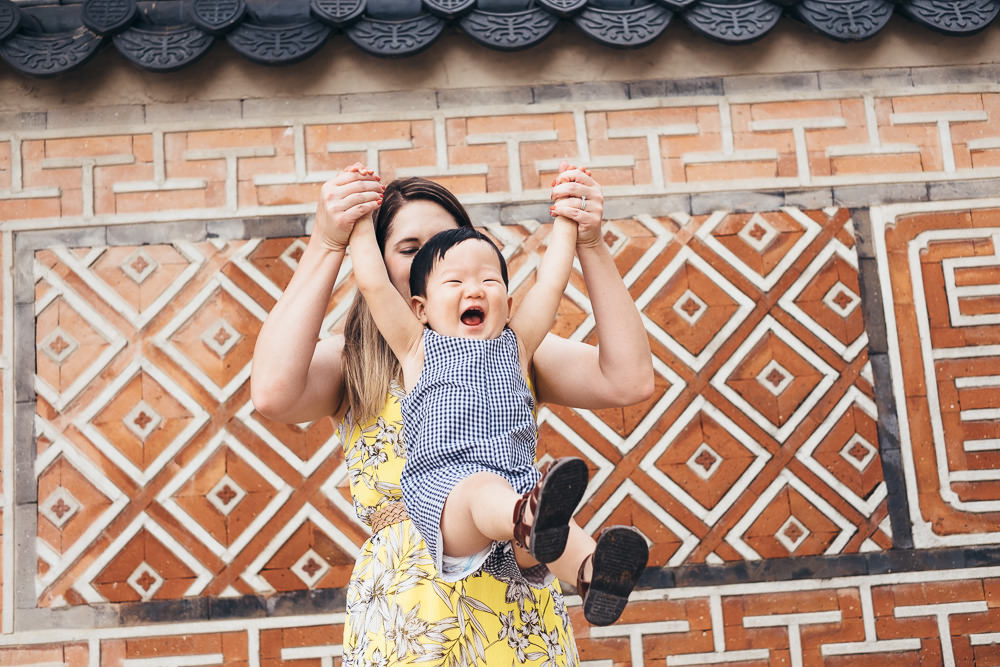 Family Photoshoot Seoul Korea Gyeongbokgung Mother and Son