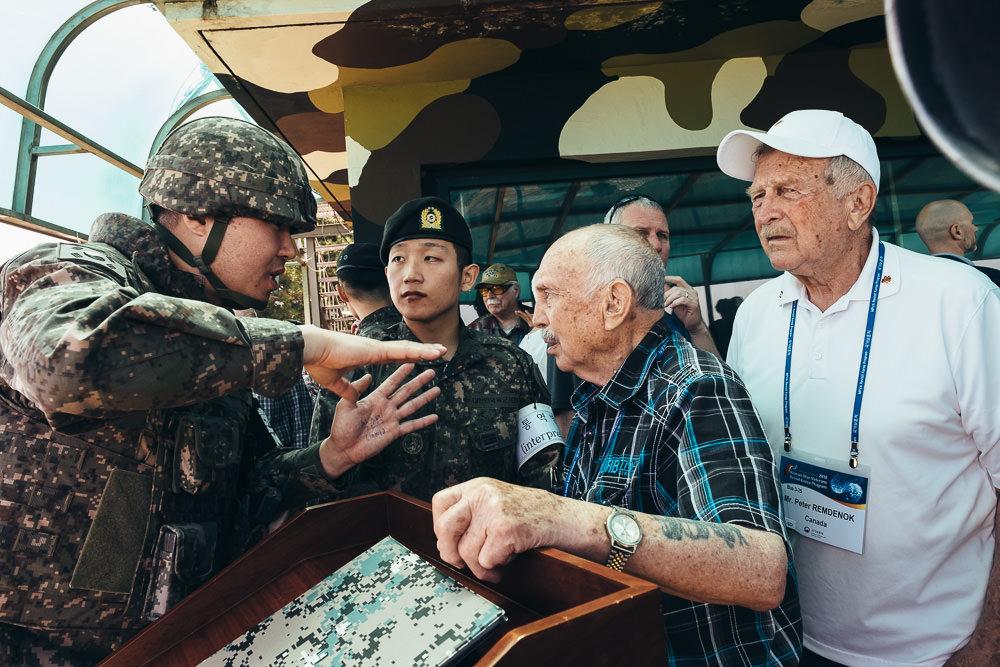 Korea Event Photographer - Canadian Veterans talk with ROK Army