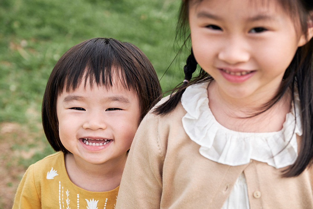 Family Portrait Photography World Cup Park Seoul - Sisters together