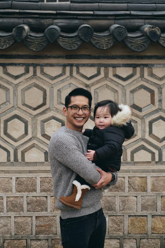 Ren with dad