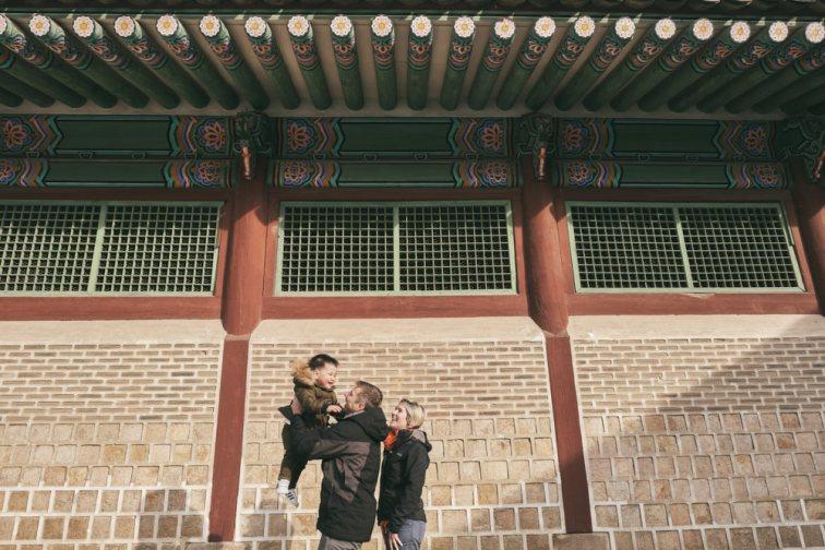 Gyeongbokgung in Winter with the Feruglio Family