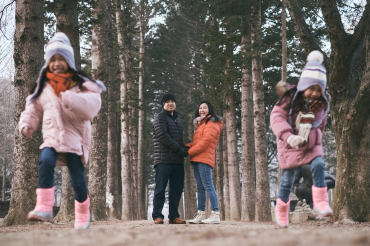 Lee Family Photos at Nami Island