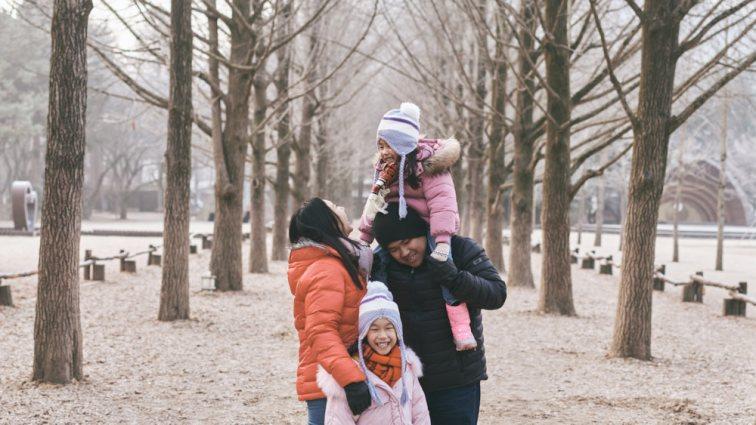 Gingko Avenue Family Photo Nami Island