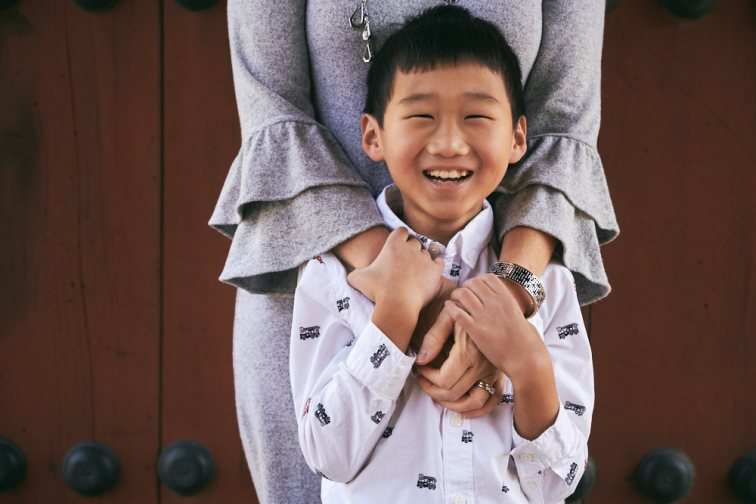 Seoul, Korea, Family Photographer - Ashcraft Family Mother and Son Portrait