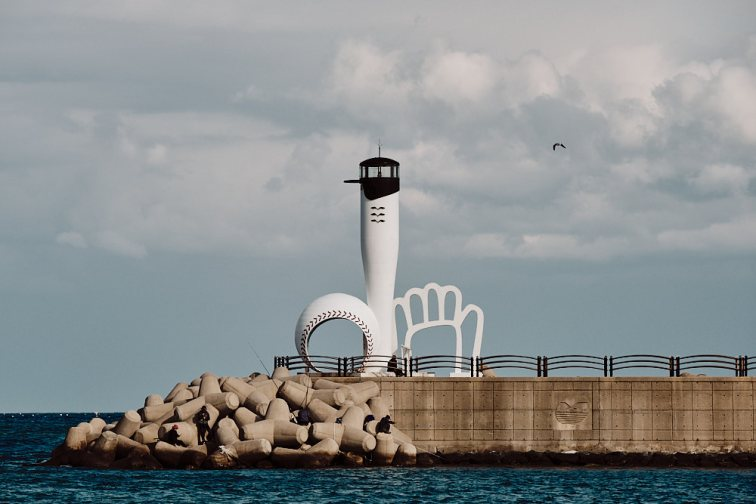 Baseball Bat Lighthouse, Gijang County, Korea
