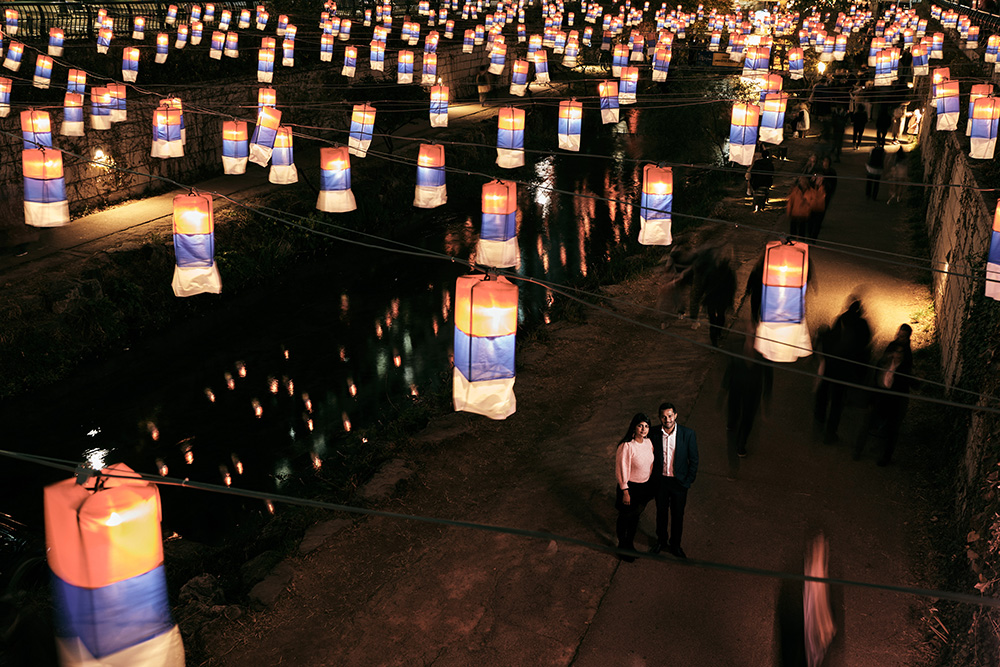 Seoul Lantern Festival Pre-Wedding Photoshoot