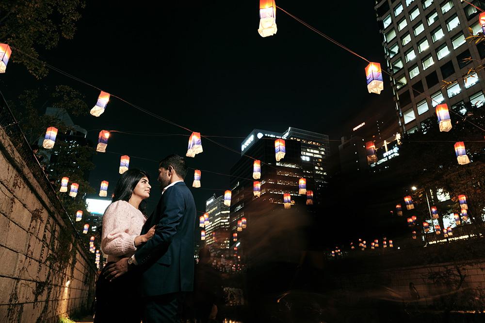 Seoul Lantern Festival Pre-Wedding Photoshoot