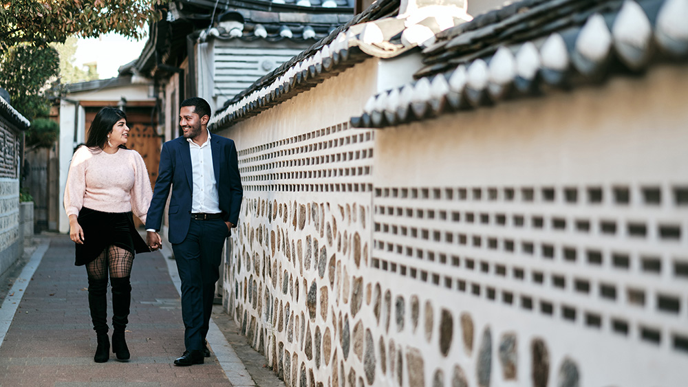Pre-wedding photos in Bukchon Hanok Village, Seoul