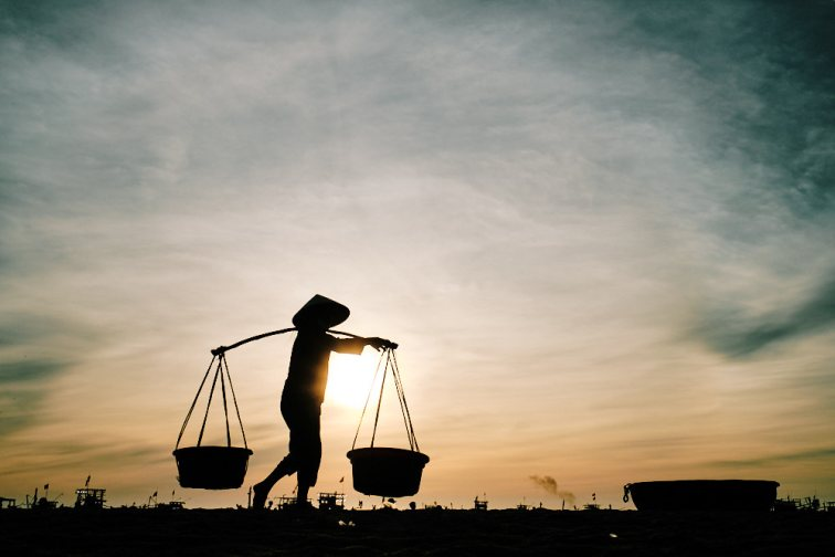 Pics of Asia Central Vietnam Tour - Basket Carry Sunrise
