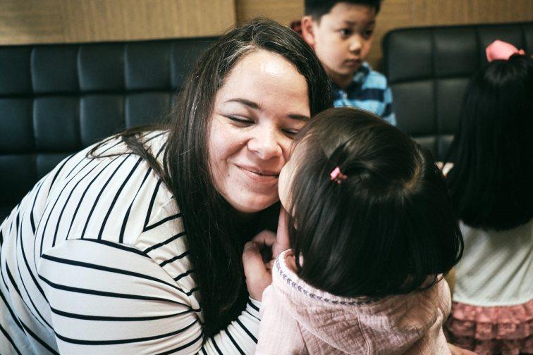 Selah's Goodbye Kiss - Korea Adoption Photography