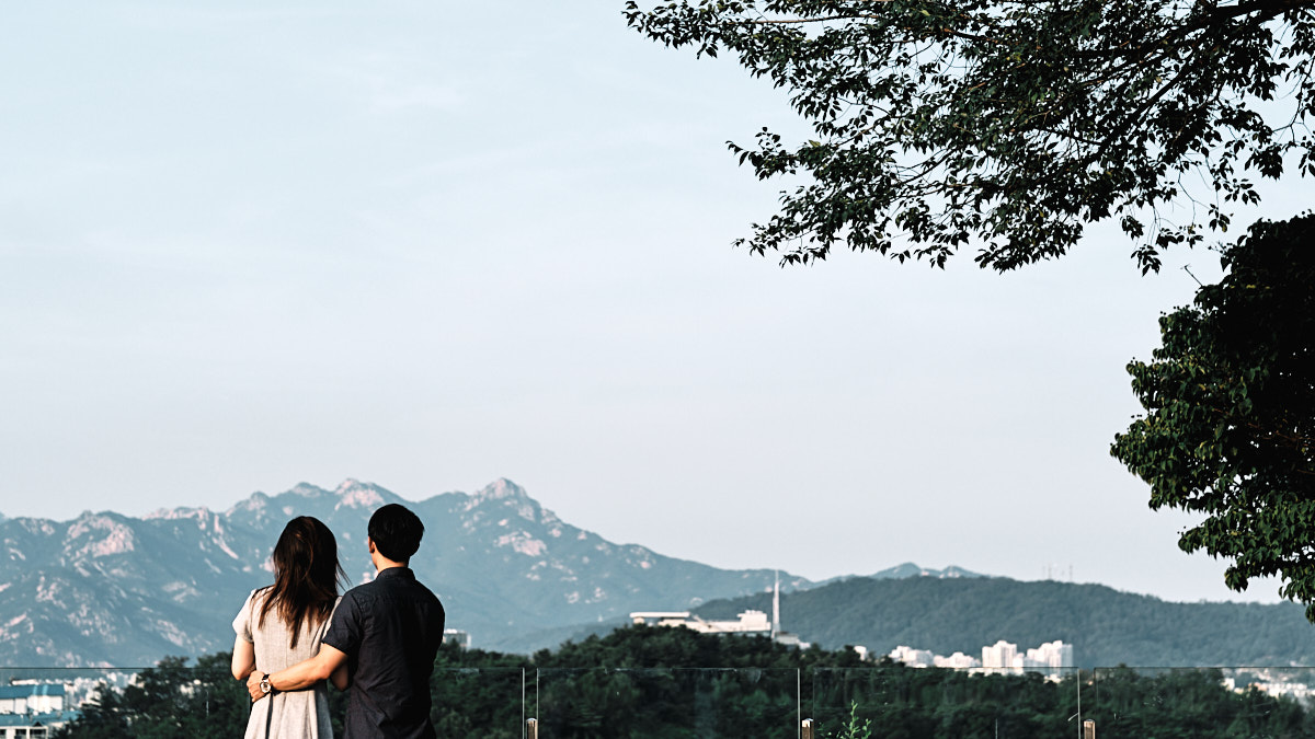 Overlooking Seoul City, Haneul Park