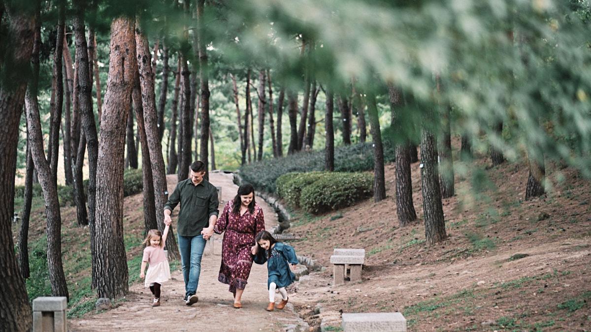 Forest Walk - Family Photo Shoot - McKeegan Suwon Haenggung