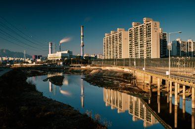 Apartments and Power - Jungnang Stream Cycling Path
