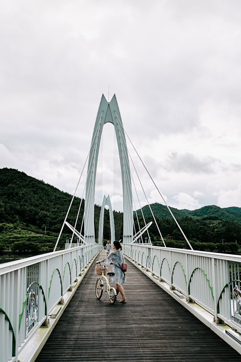 Crossing the Seomjin River - Cycling Korea