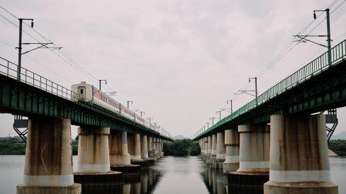 Ocheon Cycling Path - Train
