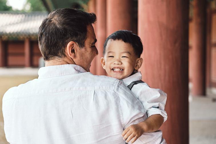 Father and Son - Michas Post-Custody Family Photos