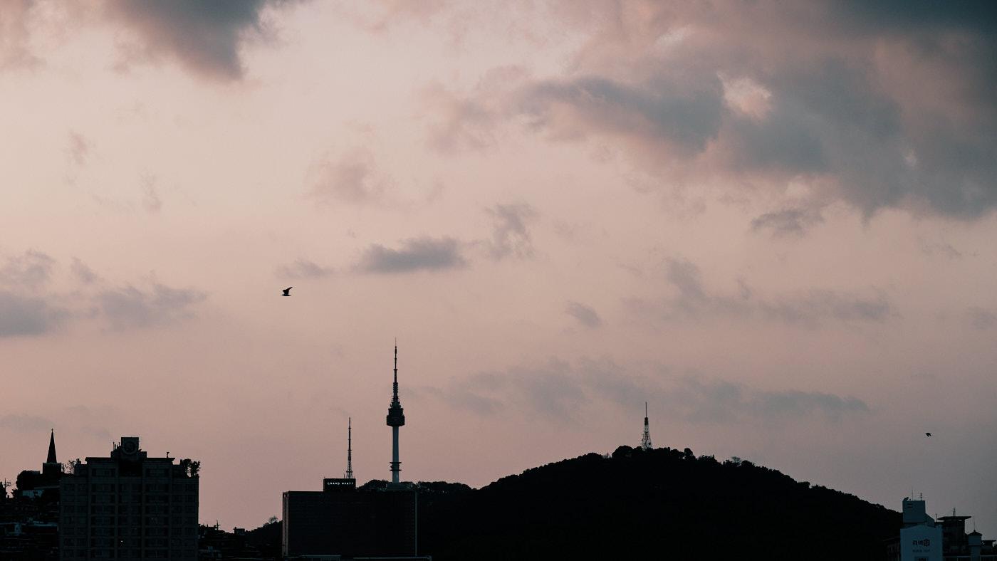 Seoul Tower Sunset