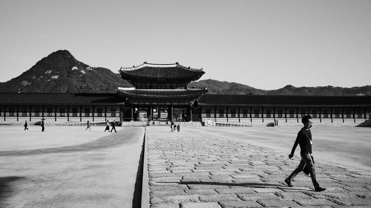 Gyeongbokgung Morning Commute - Seoul Editorial Photographer
