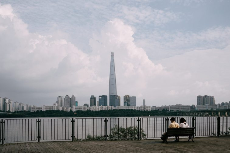 Lotte Tower Monsoon Clouds