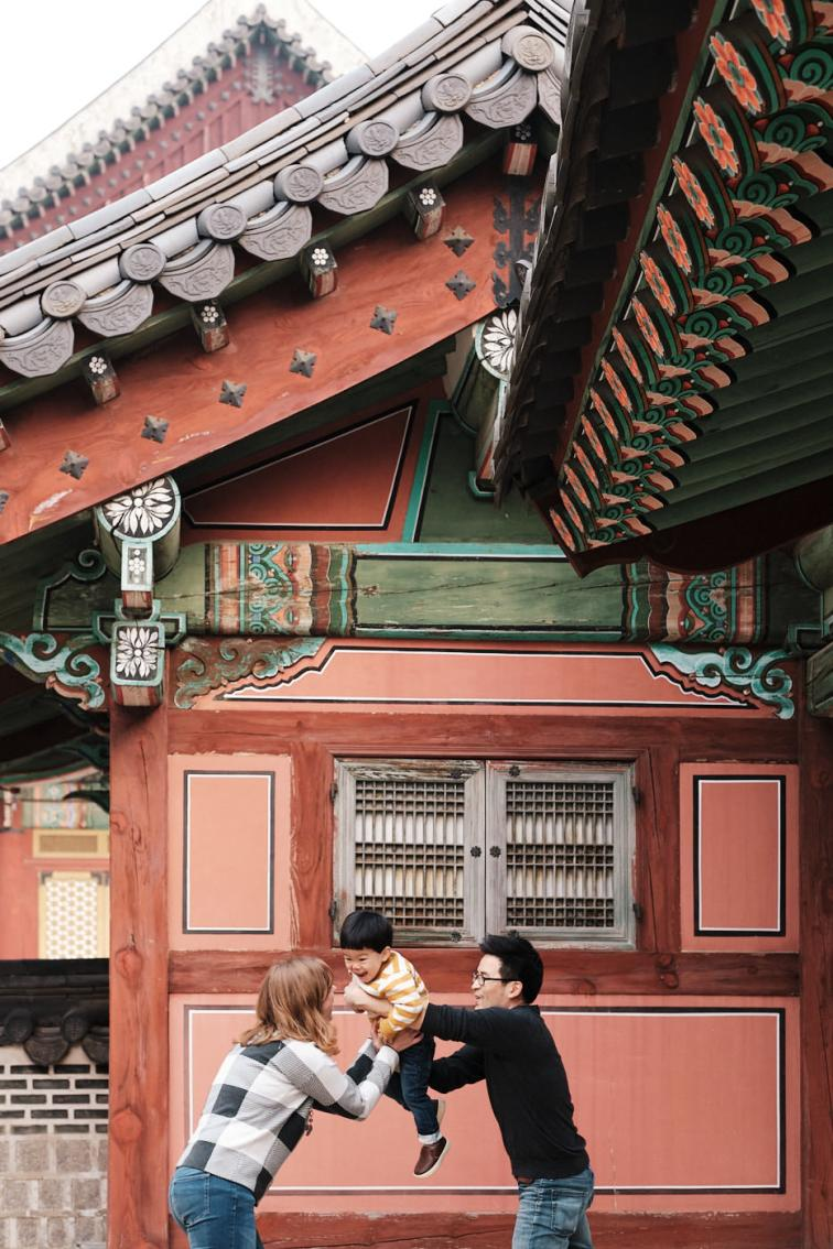 Aeroplane - Family Photography in Seoul's Winter
