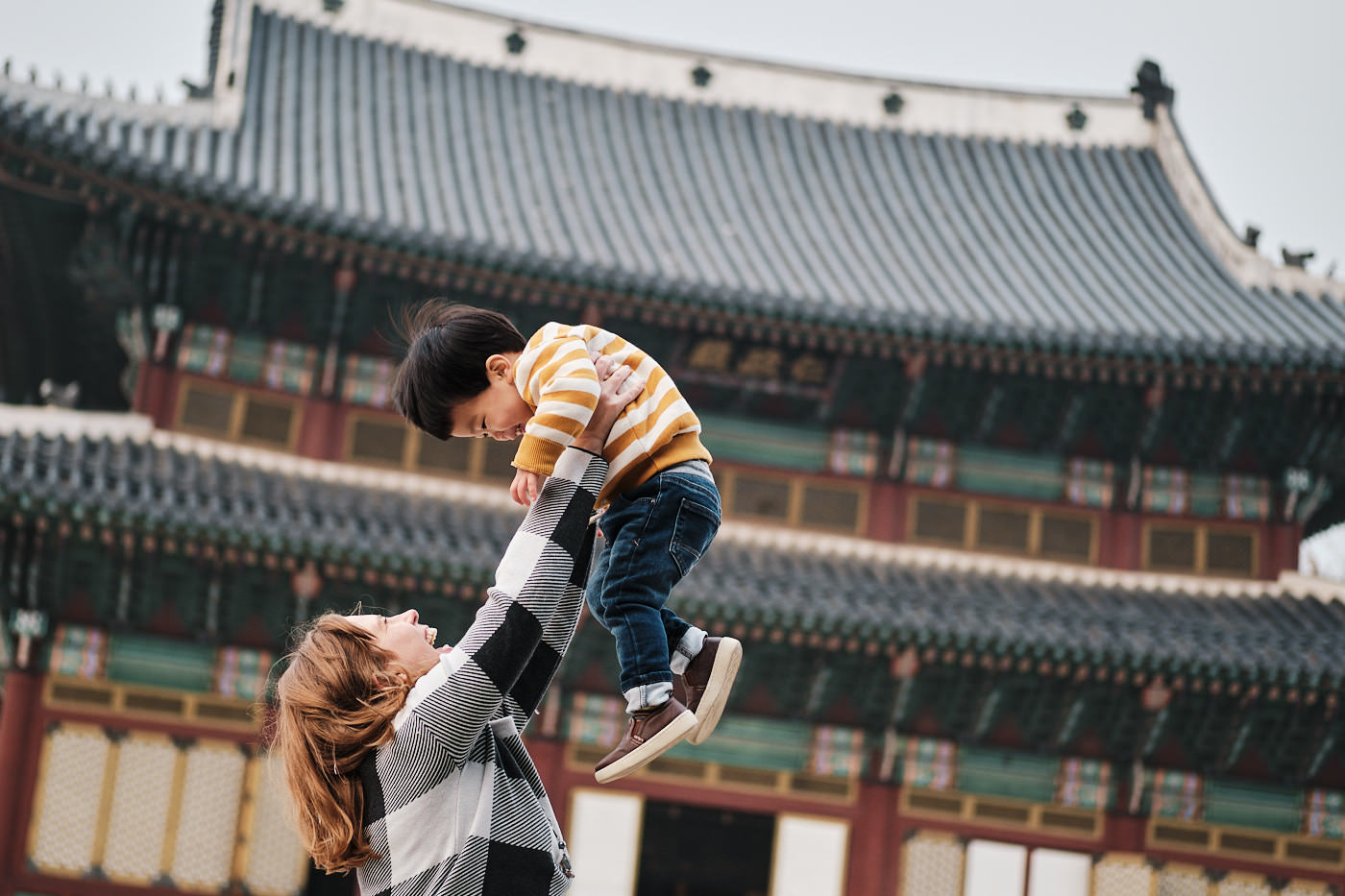 Mother and Son - Seoul Palace Family Photo