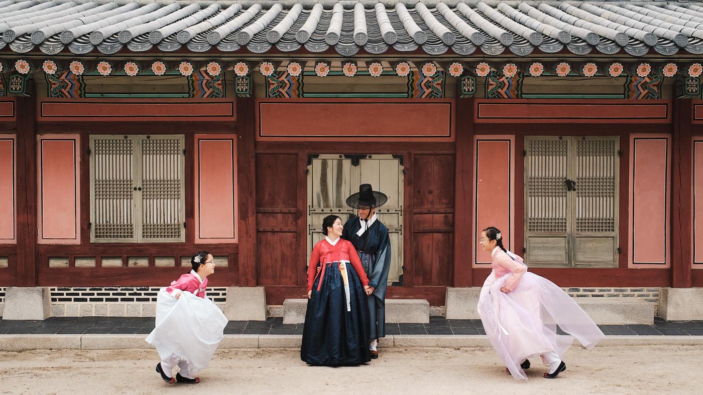 Ha Hanbok Family Photo at Gyeongbokgung