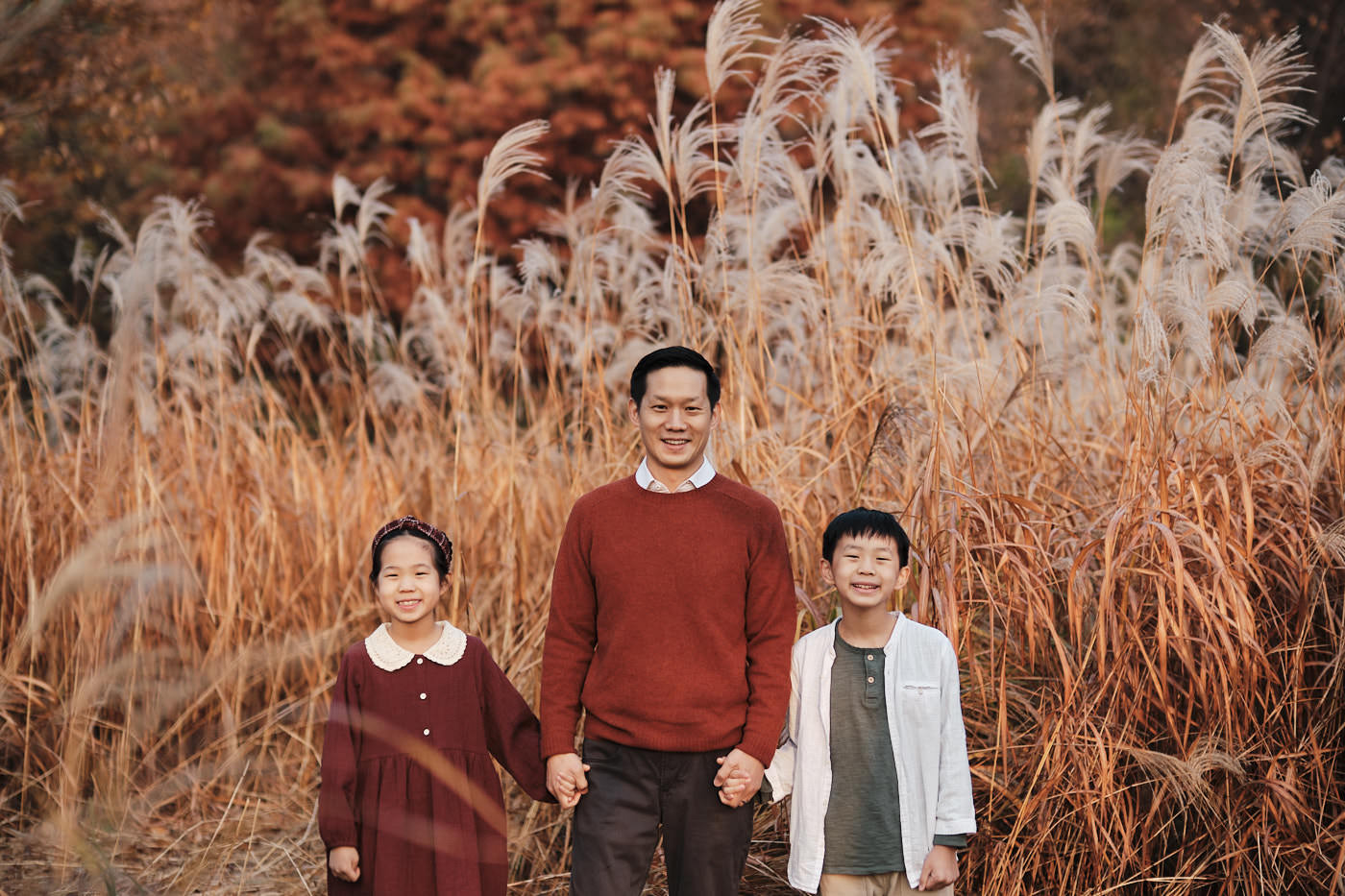 Autumn Family Photos in Seoul Forest - Chien Sunrise Session