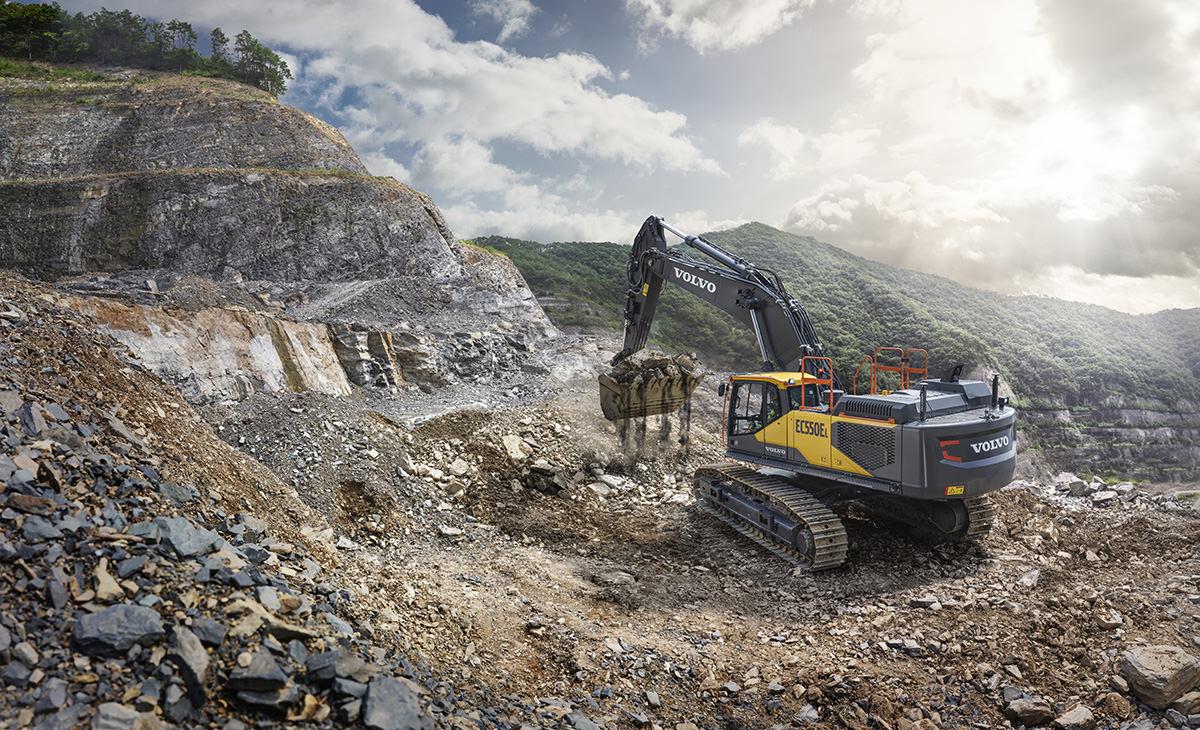 Commercial Photograph - Volvo Excavator EC550E IMVT