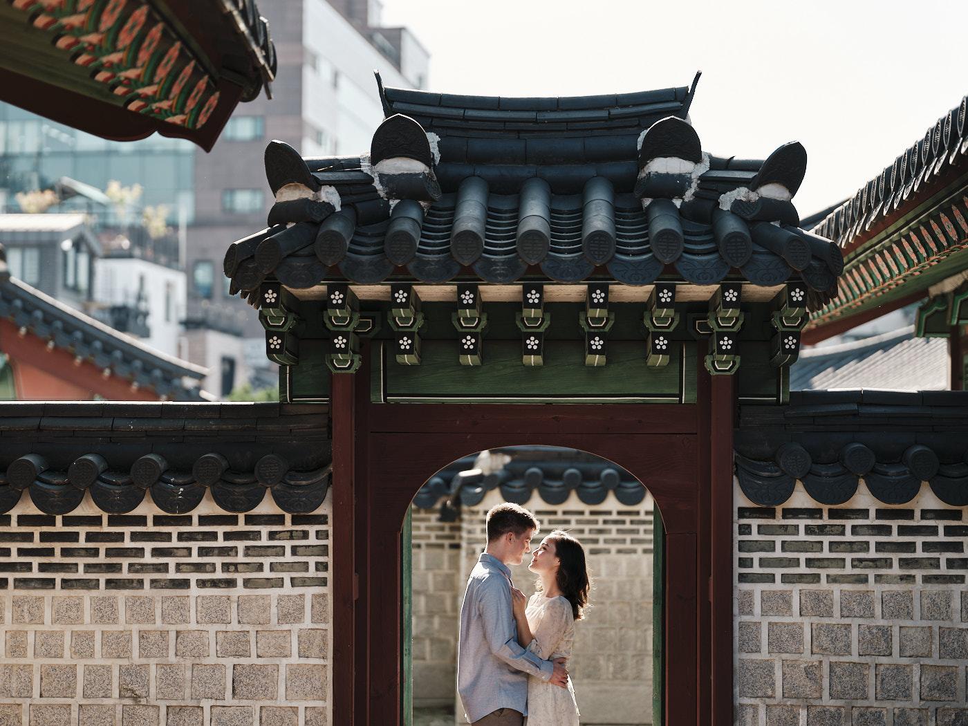 Beautiful Palace Doorway at Changdeokgung