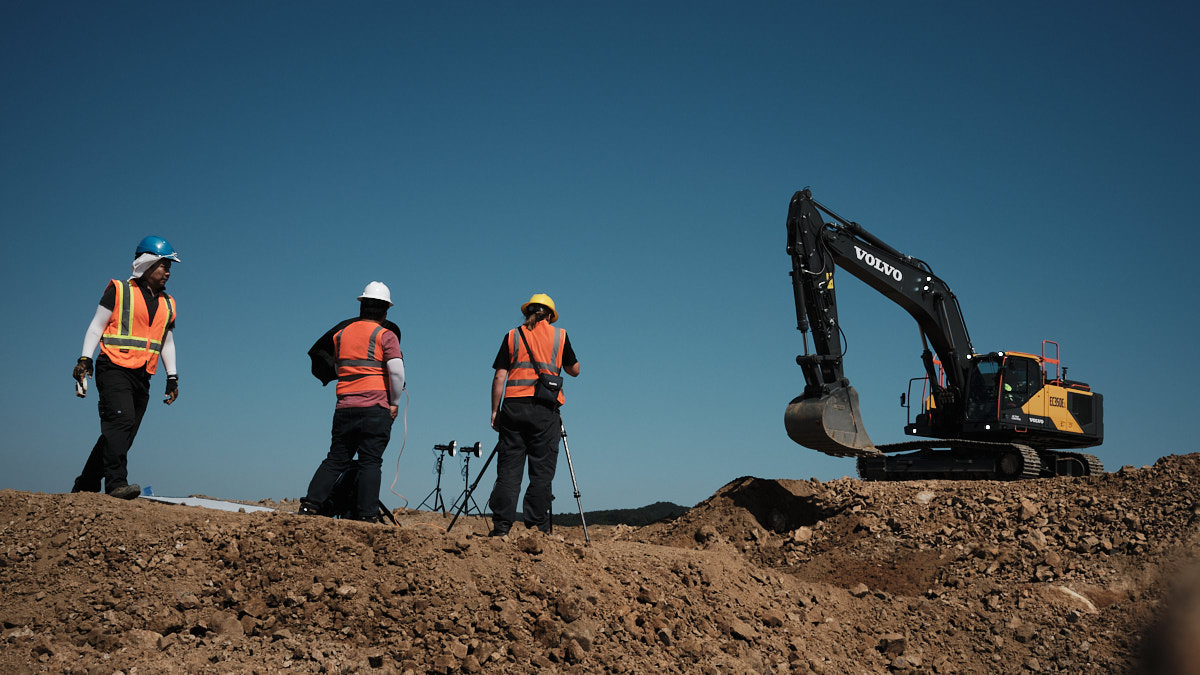 Volvo CE Commercial Photo Shoot