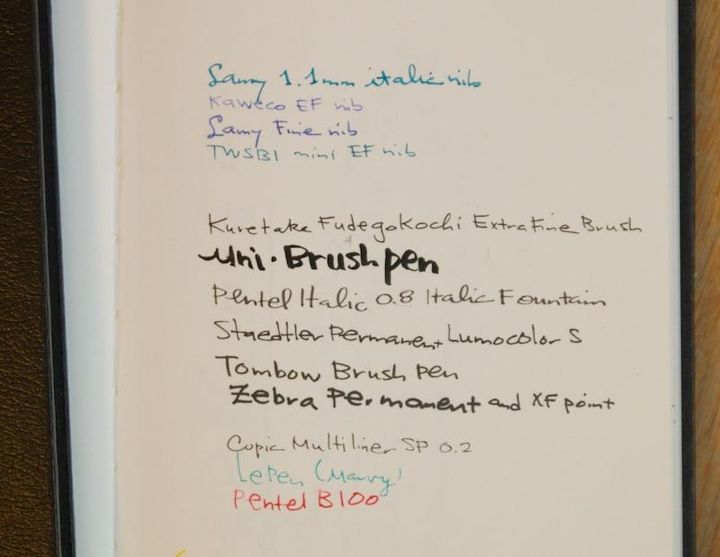 Stillman & Birn Sketchbook writing sample
