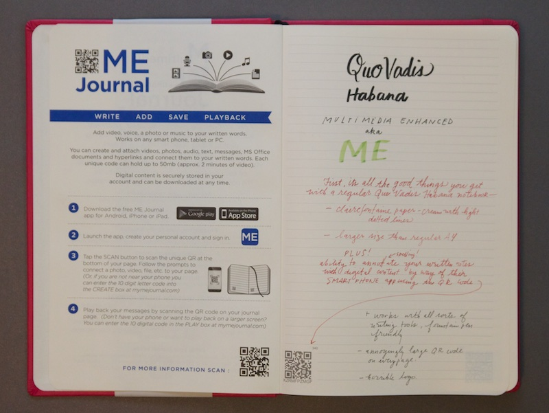 ME Journal from Quo Vadis writing sample