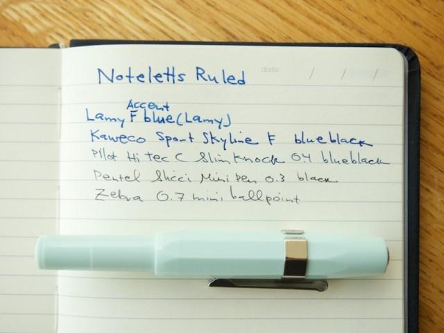 Noteletts L6 Ruled writing sample