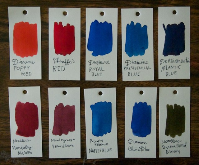 Ink DRop Swatches