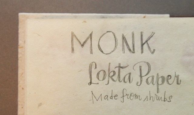 Monk Paper Journal writing sample