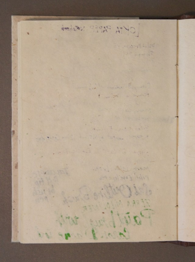 Monk Paper Journal reverse of stock