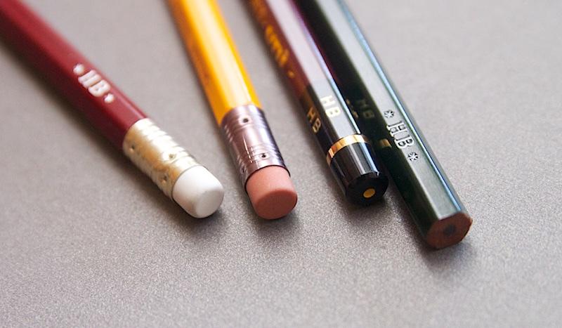 Japanese pencils end caps