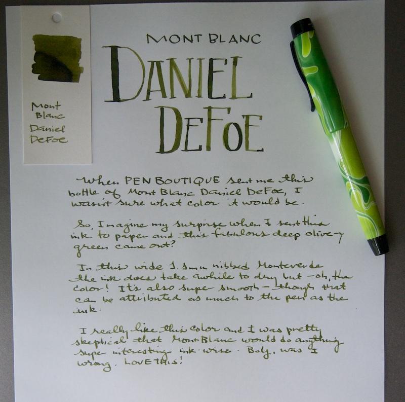 Mont Blanc Daniel DeFoe Ink