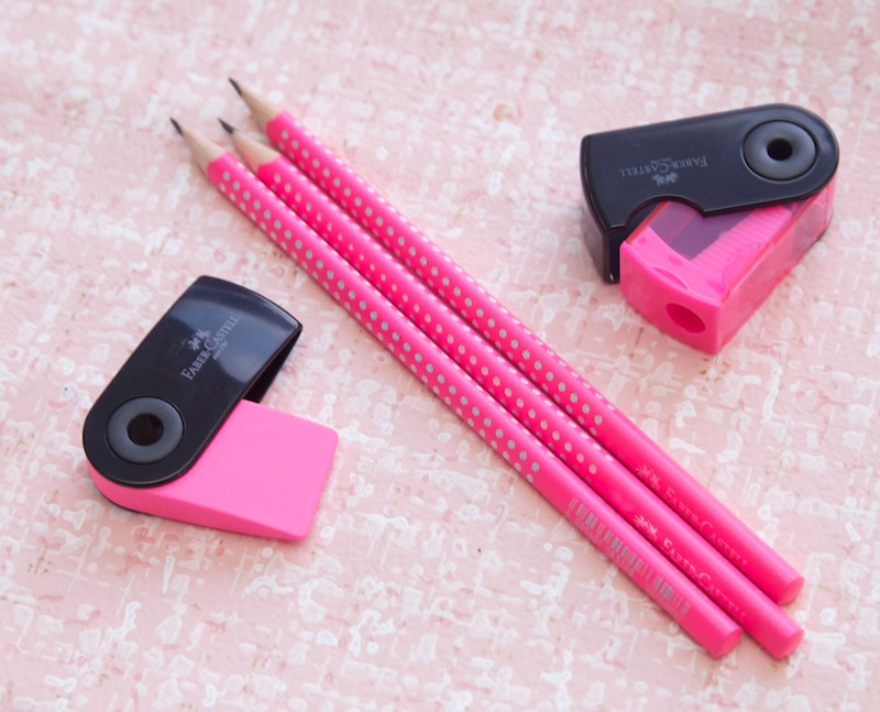 Faber Castell Neon Pink Pencil Set