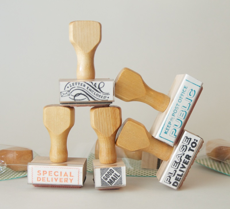 Well-Appointed Desk wood handle stamps