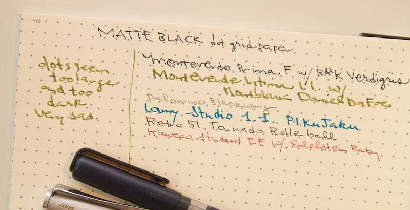 Productive Luddite Matte Black Sampler Notebook