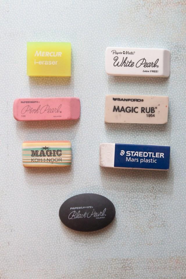 Eraser comparison