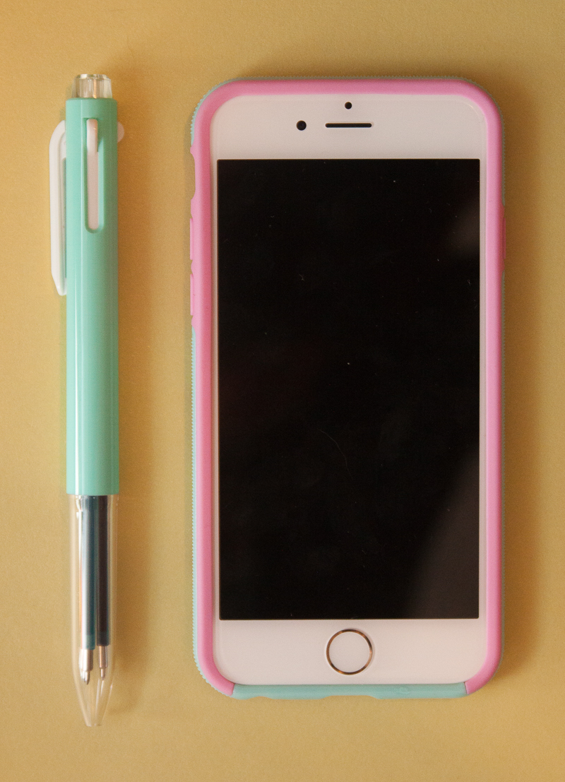 iphone 6 and Pentel i+ pen