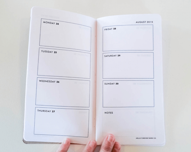 Diy Notebook Calendar : Diy planner for the midori traveler s notebook well