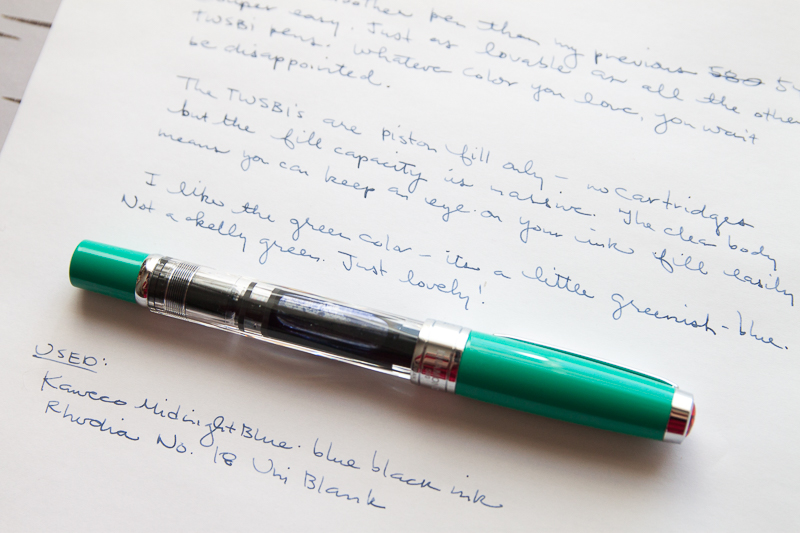 TWSBI 580 in Christmas Green