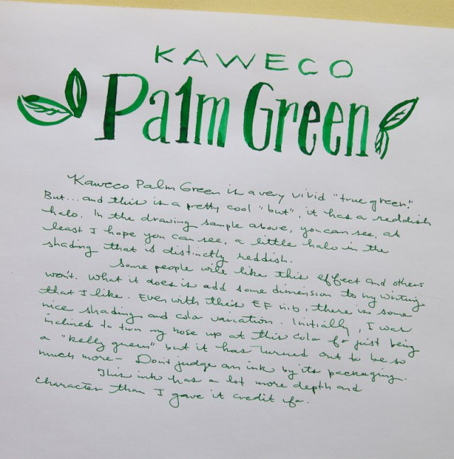 Kaweco Palm Green ink