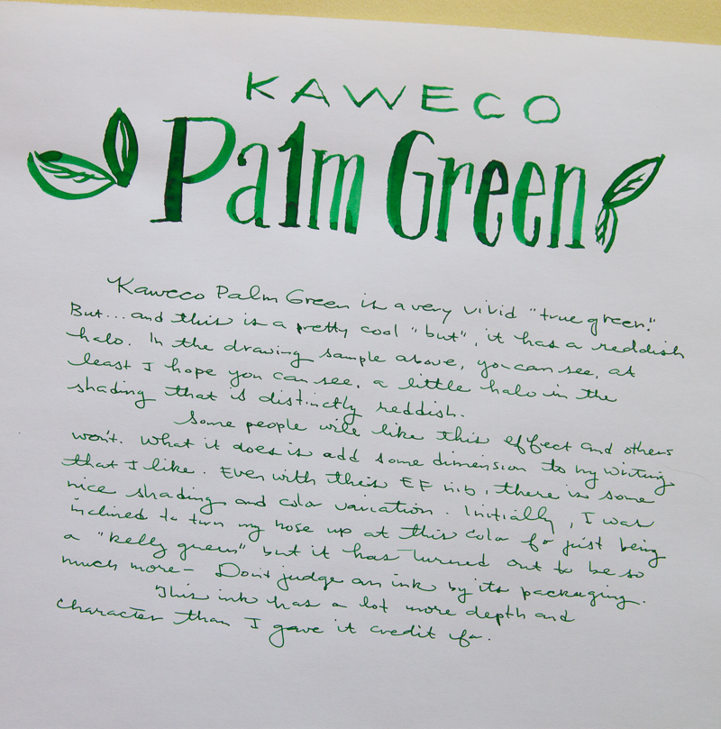 Kaweco Palm Green ink