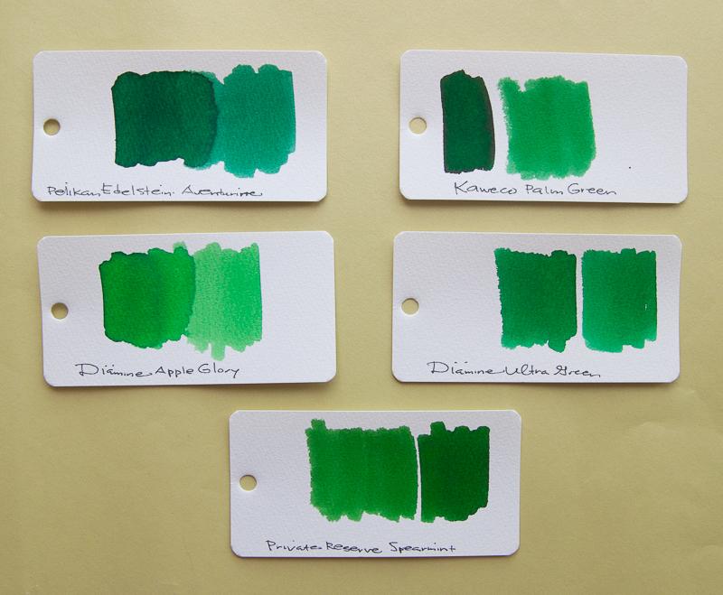 Kaweco Palm Green ink comparison