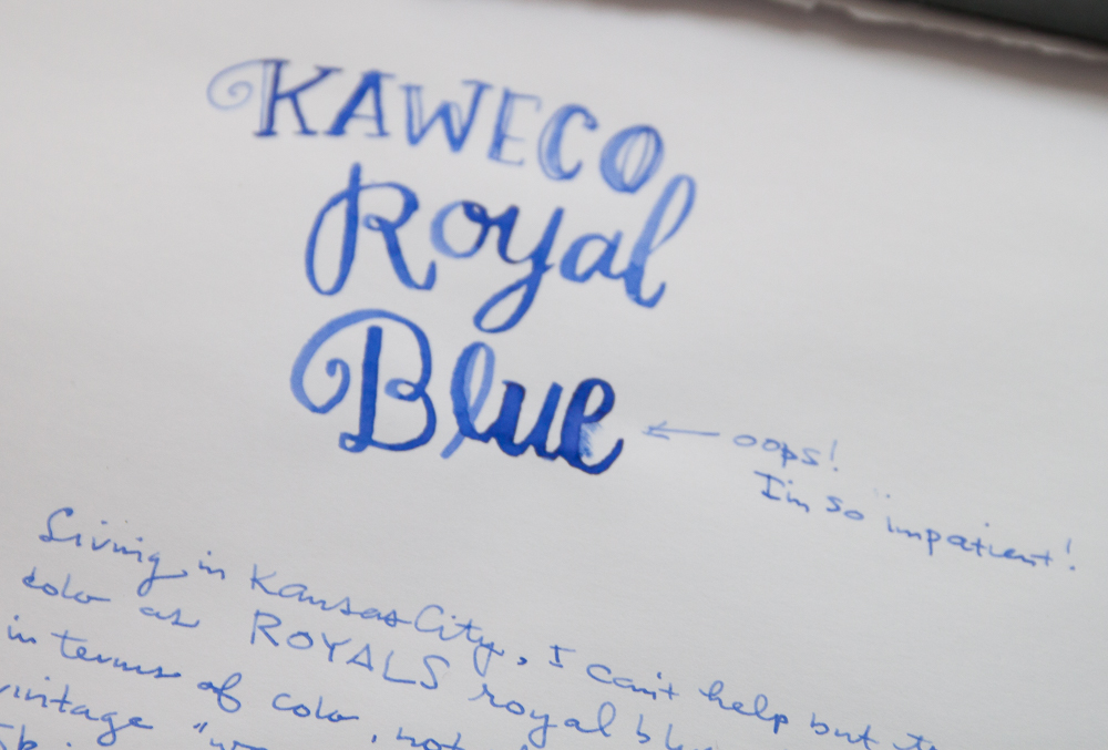 Kaweco Royal Blue ink