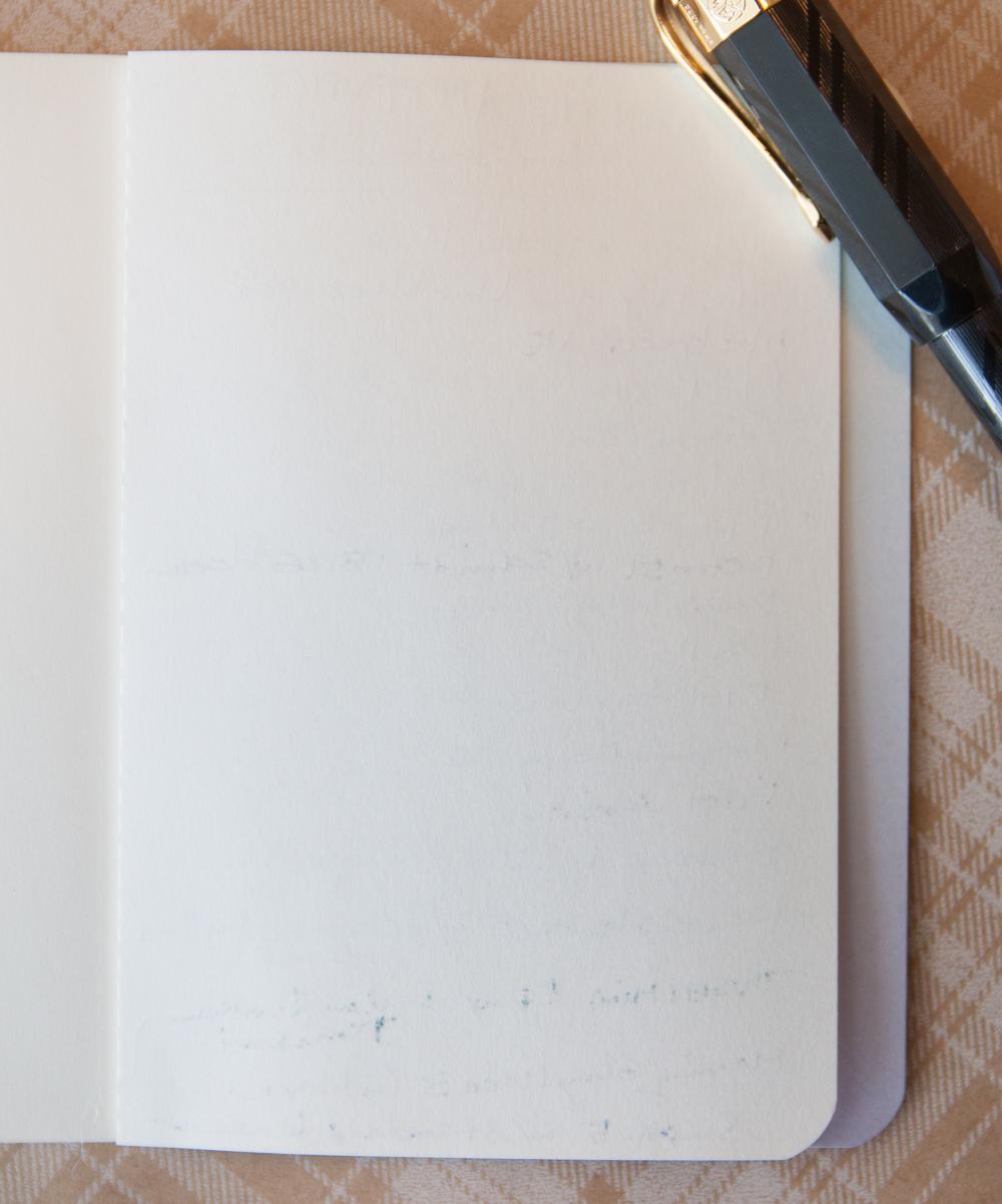 Baron Fig Apprentice writing sample reverse